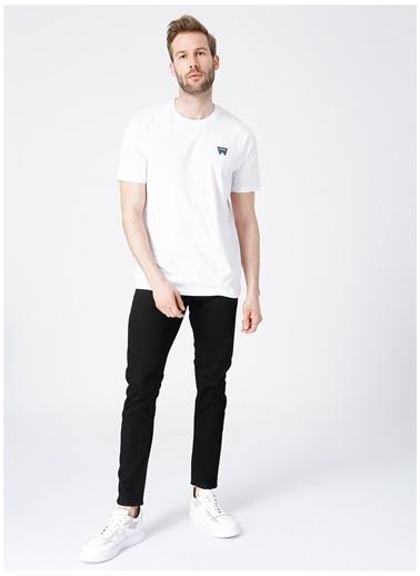 Wrangler Wrangler W7C07D312_Logo T-shirt  Beyaz